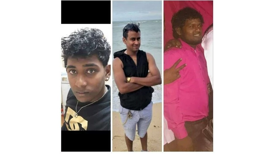 From left to right: Aaron Roopnarine, Sunil Roopnarine, Shazam Hosein.