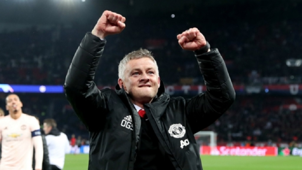 Ole Gunnar Solskjaer led Manchester United to the quarter-finals of the Champions League.