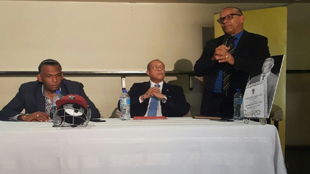 Wilford 'Billy' Heaven (left) and Mark Neita (right) at a recent press conference.