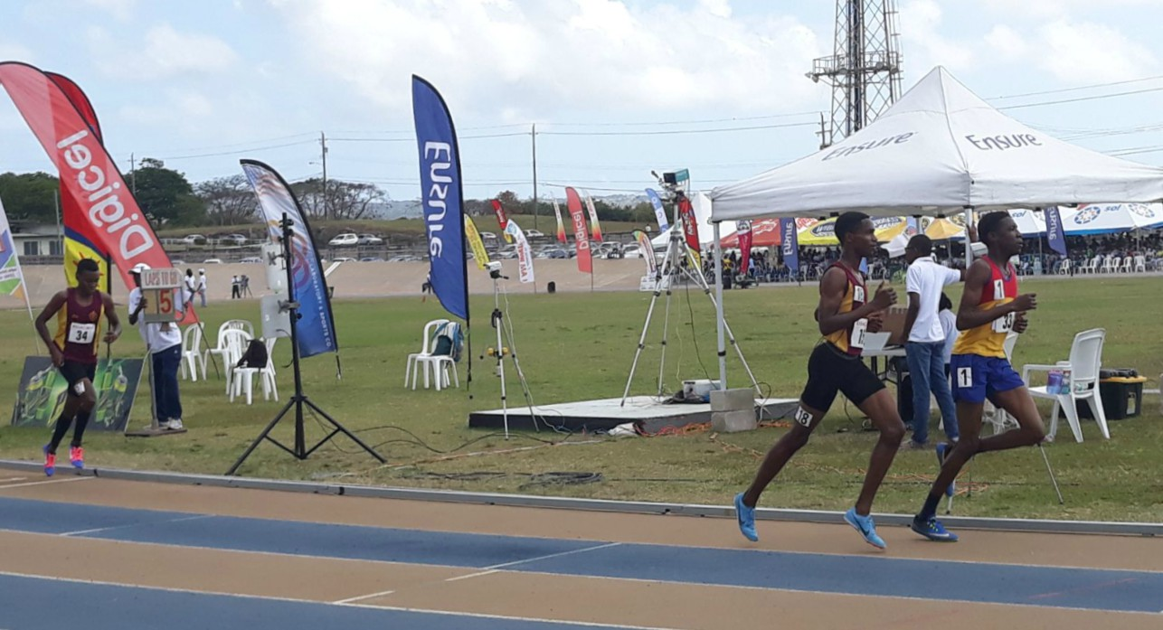 Athletes in the 2018 Barbados Secondary Schools Athletics Championships (BSSAC)
