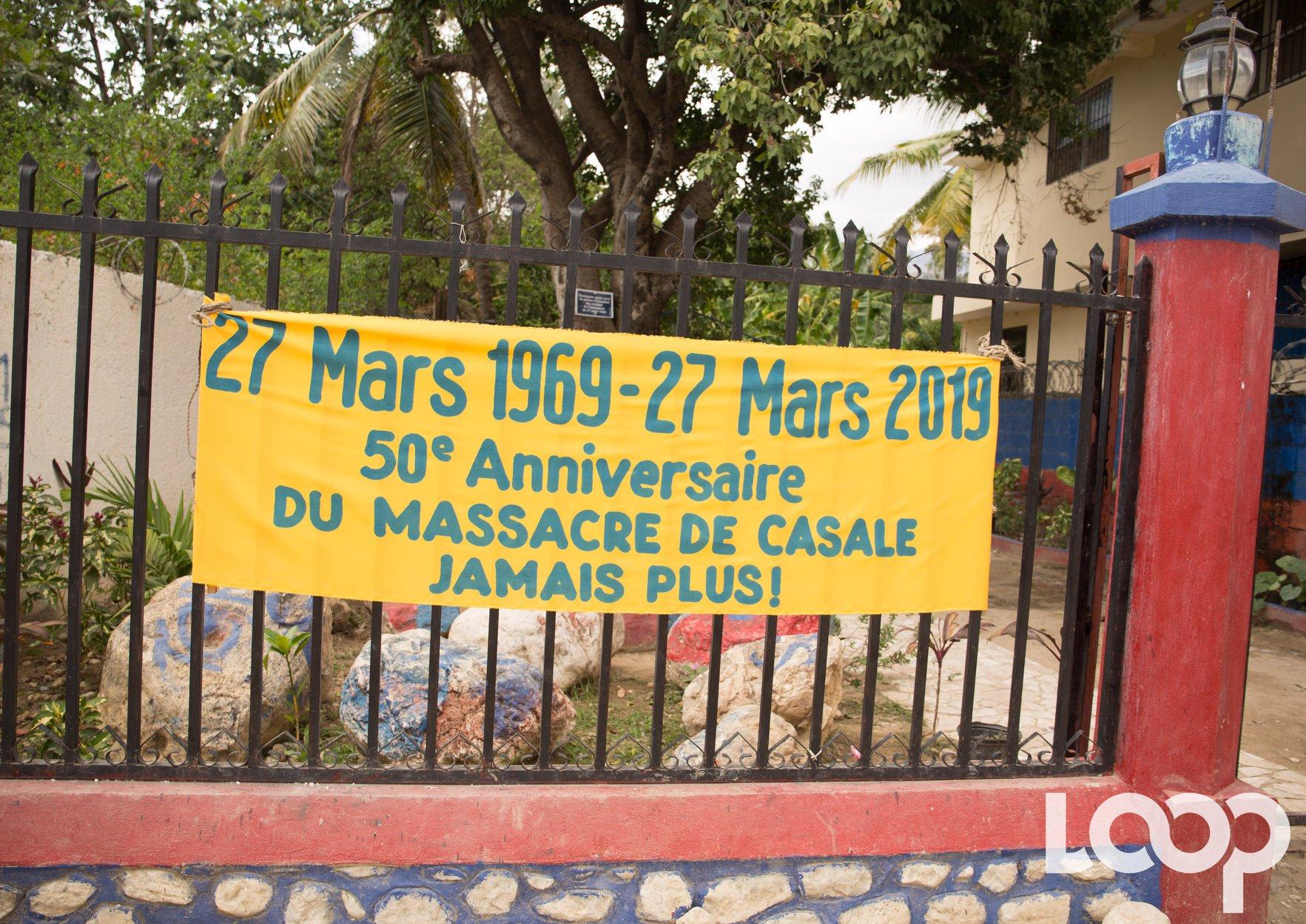 Place de la Résistance, là ou 13 Cazalais furent massacrés le 27 mars 1969 par les sbires de François Duvalier./Photo: Loop Haiti-Luckenson Jean.
