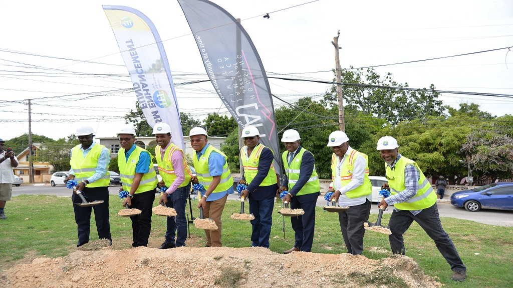 The official groundbreaking for the Grange Pen upgrading project in St James on Friday.