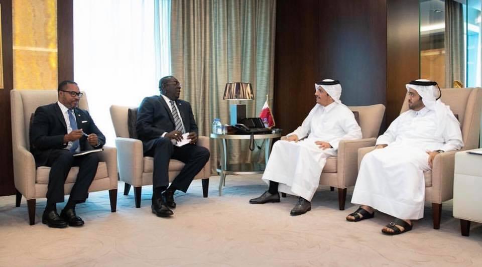 Une délégation haitienne actuellement à Qatar pour parler de partenariat économique, d'investissement étranger, de renforcement de relations diplomatiques et bilatérales./Photo: Compte Facebook Edmond Bocchit.