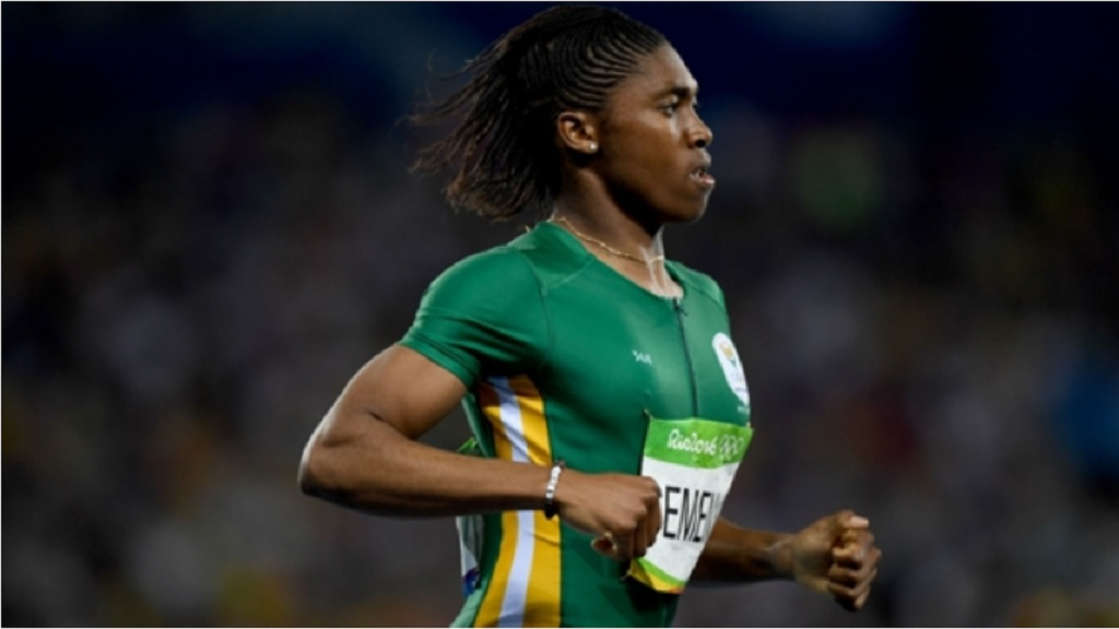 Double Olympic 800m champion Caster Semenya.