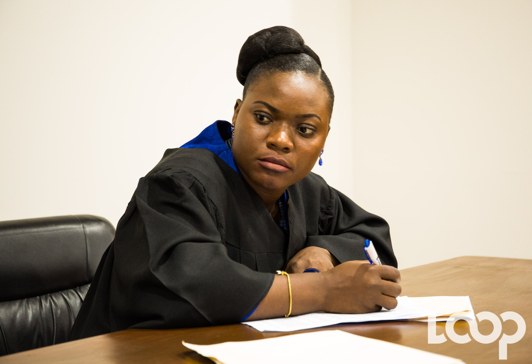 Esther Grégoire, étudiante finissante en science juridique à la Faculté de Droit et des Sciences Économiques,la lauréate du «Prix BDHH» 2019.