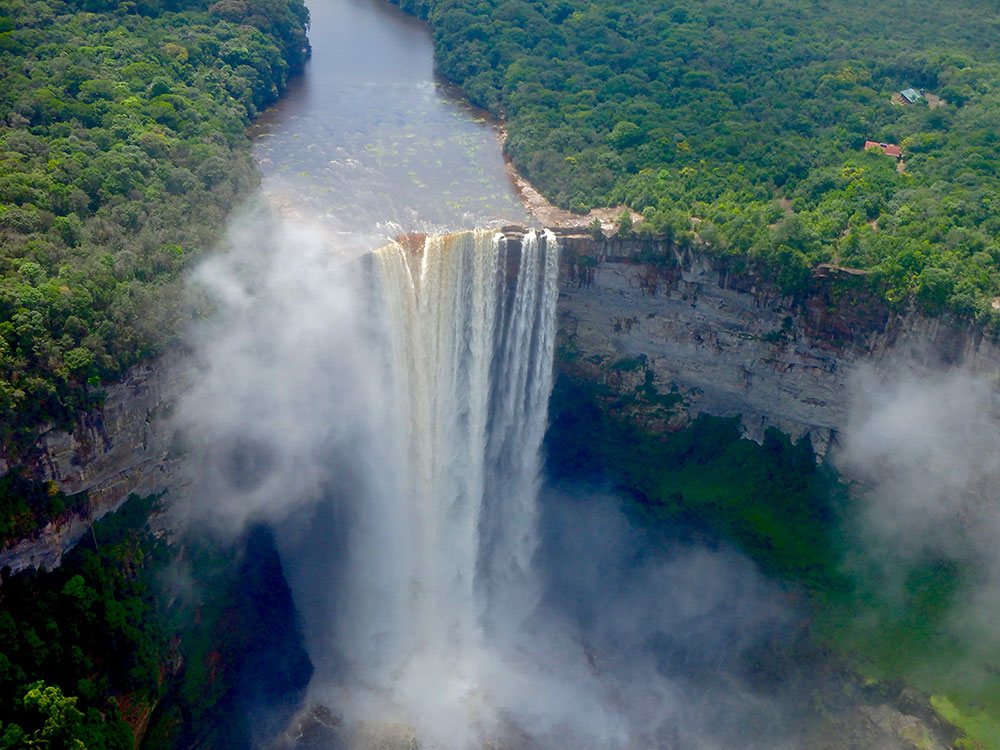 Kaieteur Falls in Guyana is a big attraction