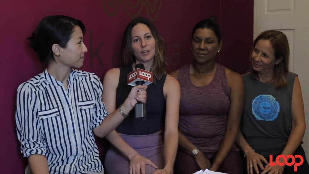 Photo: Directors of Akasha Yoga Trinidad L-R: Gaby Beston-Edwards, Paige Tim-Pow, and Jacqueline Quesnel will be giving free instructional videos on yoga tips for health and wellness.