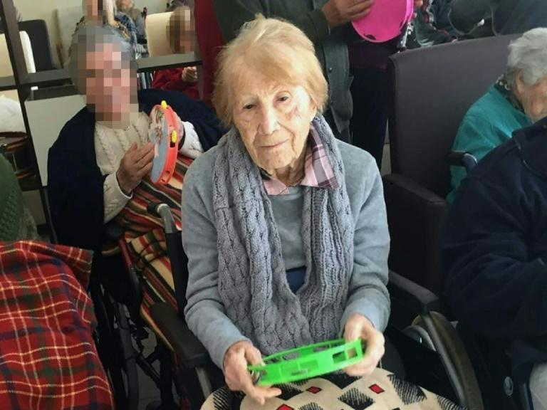 Maria Babes, une femme de 101 ans séquestrée dans une maison, photographiée dans une maison de retraite à Cadix, sur une photo diffusée le 7 mars 2019 par la garde civile espagnole