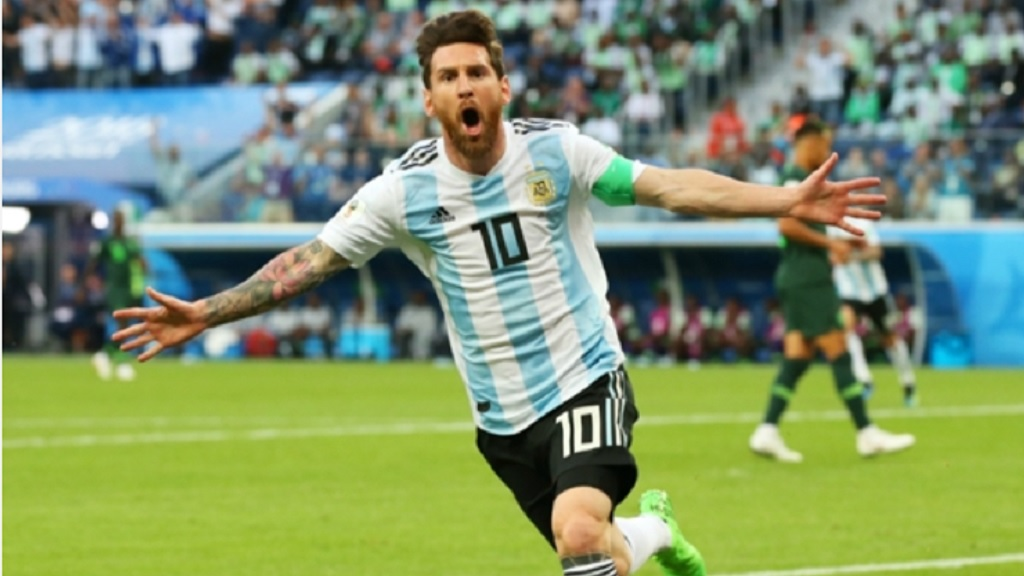 Lionel Messi at the 2018 World Cup.