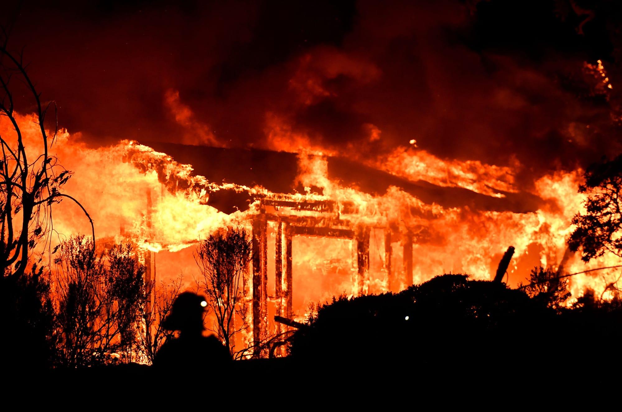 Cette Photo d'incendie sert uniquement d'illustration à l'article Crédit : AFP