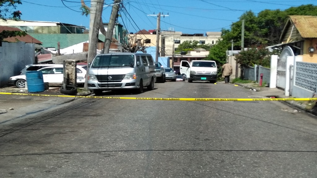 The Jarrett Street, Montego Bay robbery/double murder scene of Sunday, March 10.