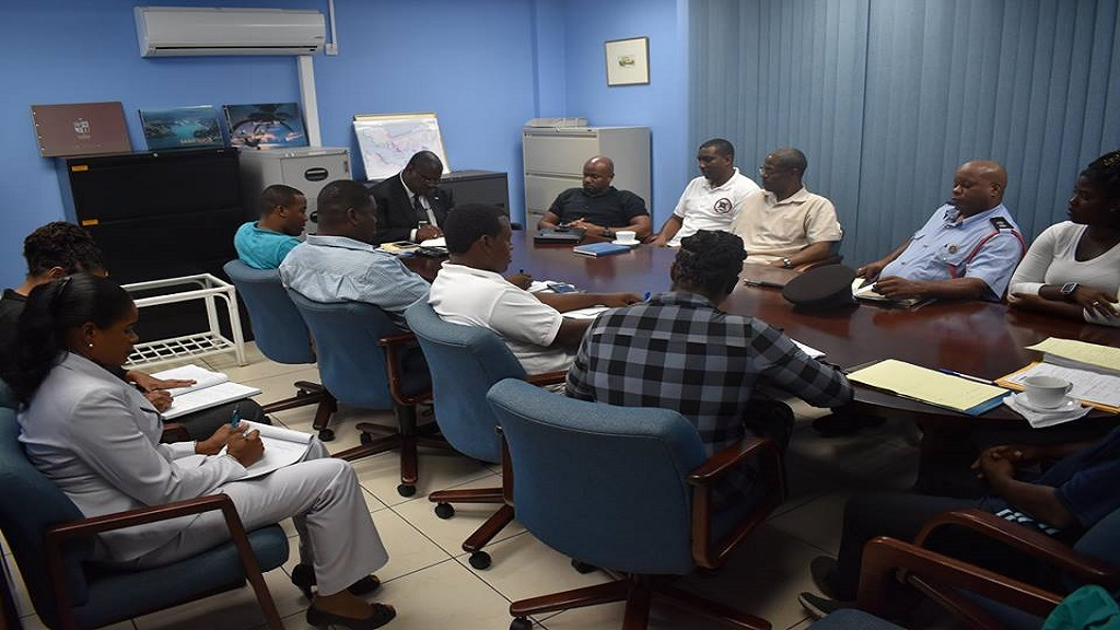 Stephenson King meets with Executive of the Saint Lucia Fire Service Association on Thursday