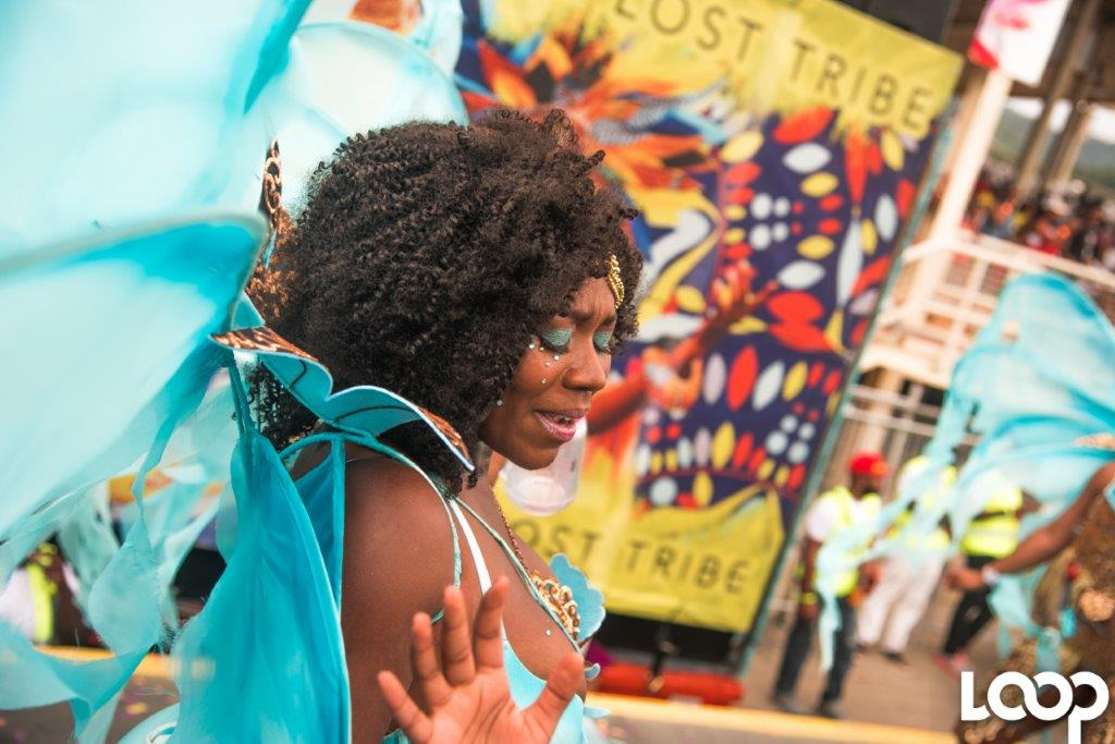 Loop photo of a reveler at Trinidad Carnival last year.