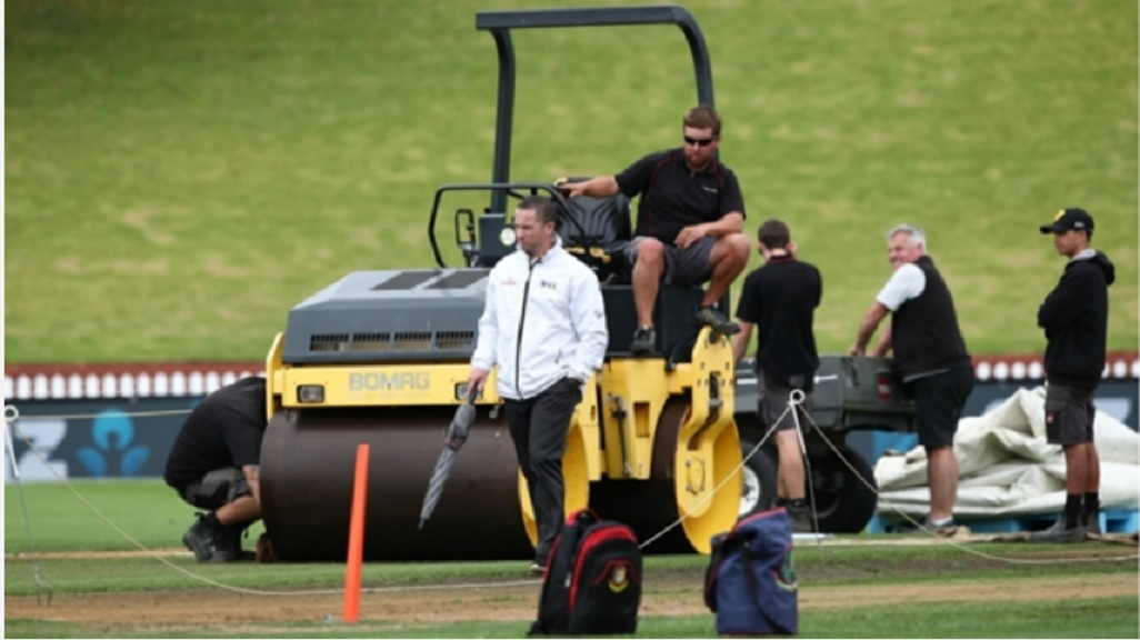Day two of the second Test between New Zealand and Bangladesh was abandoned.