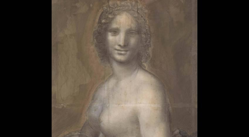 """Une photo du tableau de """"La Joconde nue"""" fournie par le RMN-Grand Palais Domaine de Chantilly le 4 mars 2019"""