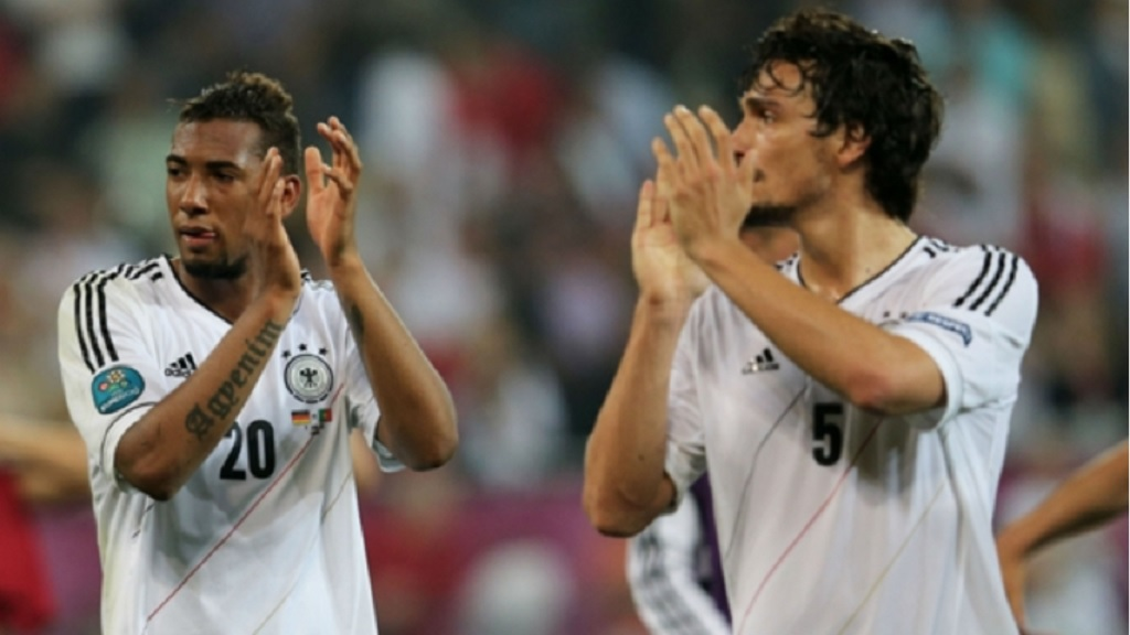 Jerome Boateng and Mats Hummels playing for Germany.