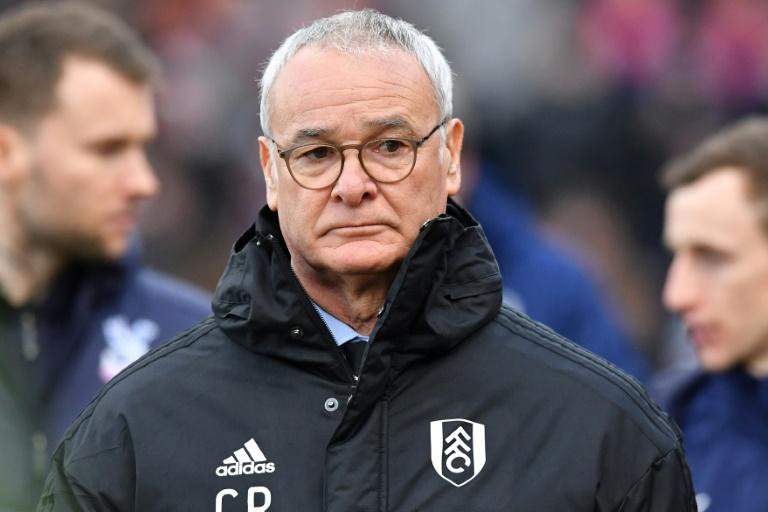 Claudio Ranieri, alors entraîneur de Fulham, avant le coup d'envoi du match contre Crystal Palace en Premier League, le 28 février 2019 à Londres