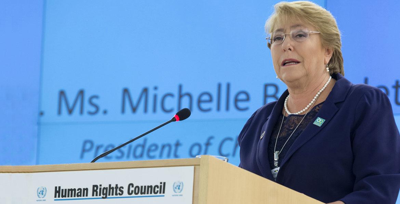 Michèle Bachelet, Haut Commissaire des Nations-Unies aux Droits de l'homme./Photo: UN News