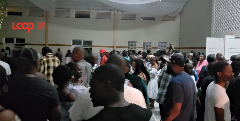 Supporters jamming to music at the BWU fundraiser.