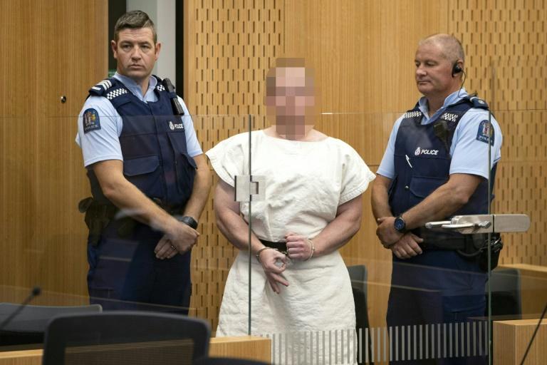 Brenton Tarrant, un extrémiste de droite qui a fait un carnage dans deux mosquées de Christchurch, comparaît au tribunal, le 16 mars 2019 en Nouvelle-Zélande