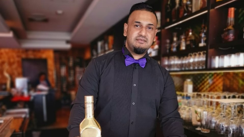 Ravi Deonarine, bartender at Krave, has created Soca-tails for the Carnival season. All Photos by Glenda Wong