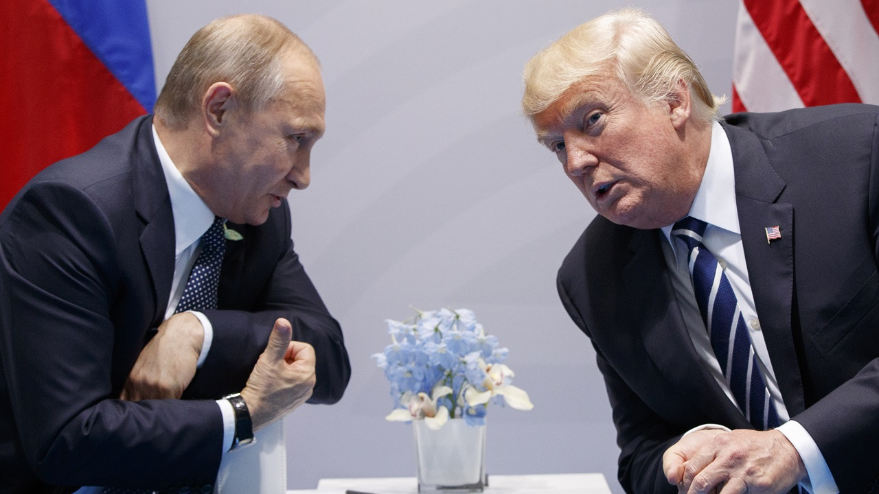(Image: AP: Donald Trump meets with Russian President Vladimir Putin at the G-20 Summit in Hamburg on 7 July 2017)