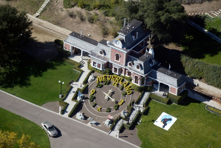 Vue aérienne du ranch Neverland en Californie. Photo archives 2003 AFP