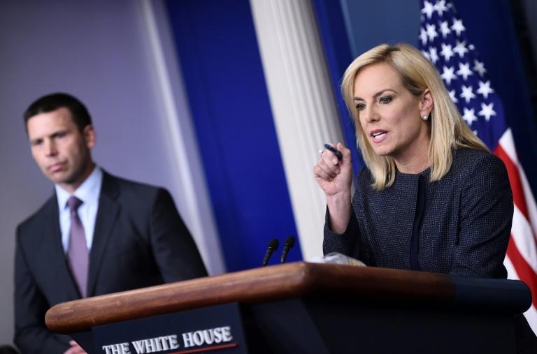Kirstjen Nielsen, alors ministre de la Sécurité intérieure des Etats-Unis, le 4 janvier 2019 à Washington
