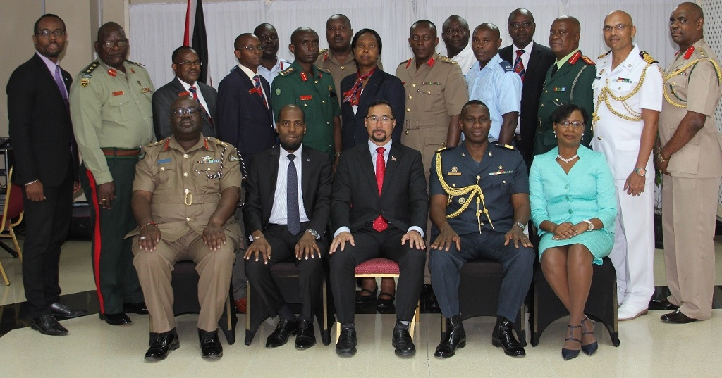 Seated in the front row, from left to right: Senior Directing Staff Army at