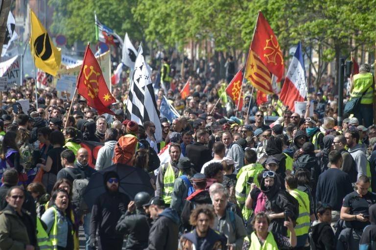 """Manifestation des """"gilets jaunes"""" à Toulouse le 13 avril 2019"""