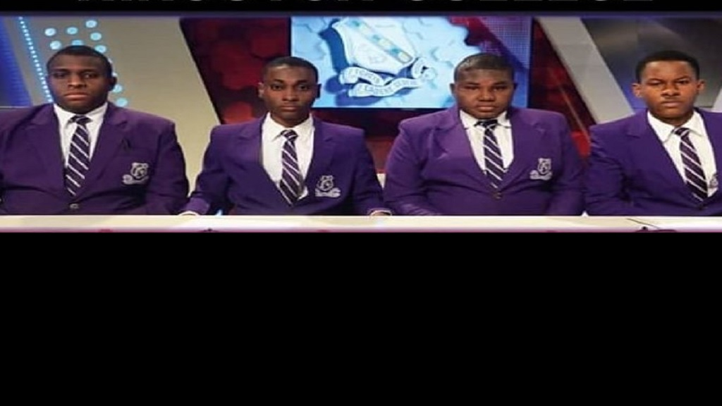 The Kingston College Schools' Challenge Quiz team (pictured) will face St Jago in Tuesday's final.