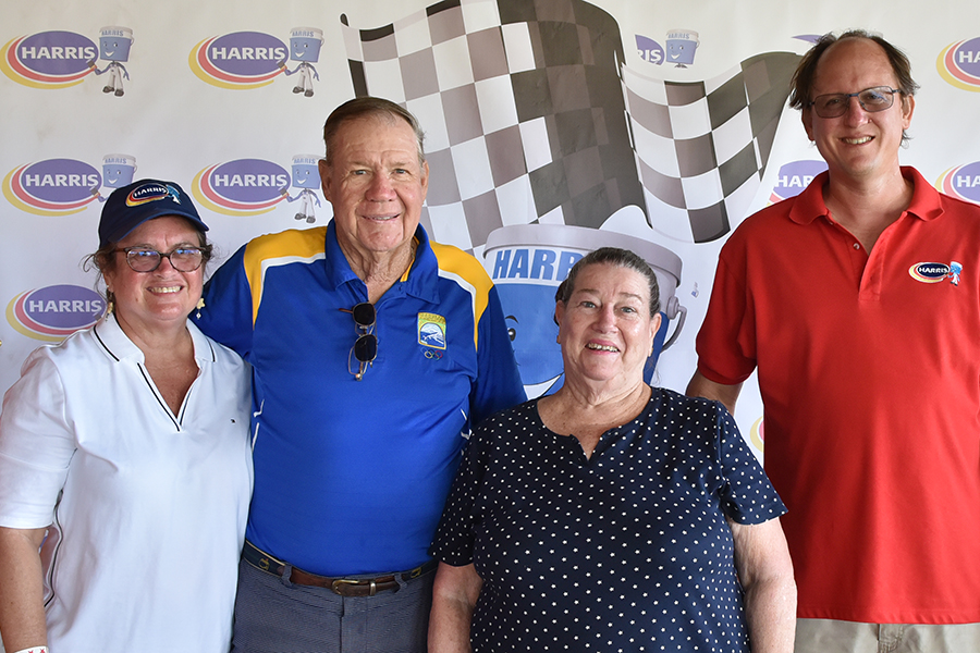 L-R Wendy Del Castilho – Sales Representative Retail Services, Ralph Johnson – Chairman Harris Paints, Wynona Phillips - Wife of Founder Andrew Phillips, John Marshall – VP Operations & Business Unit Head Barbados.
