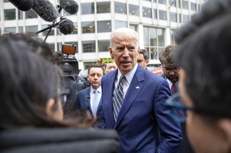 Joe Biden parle aux médias le 5 avril 2019 à Washington