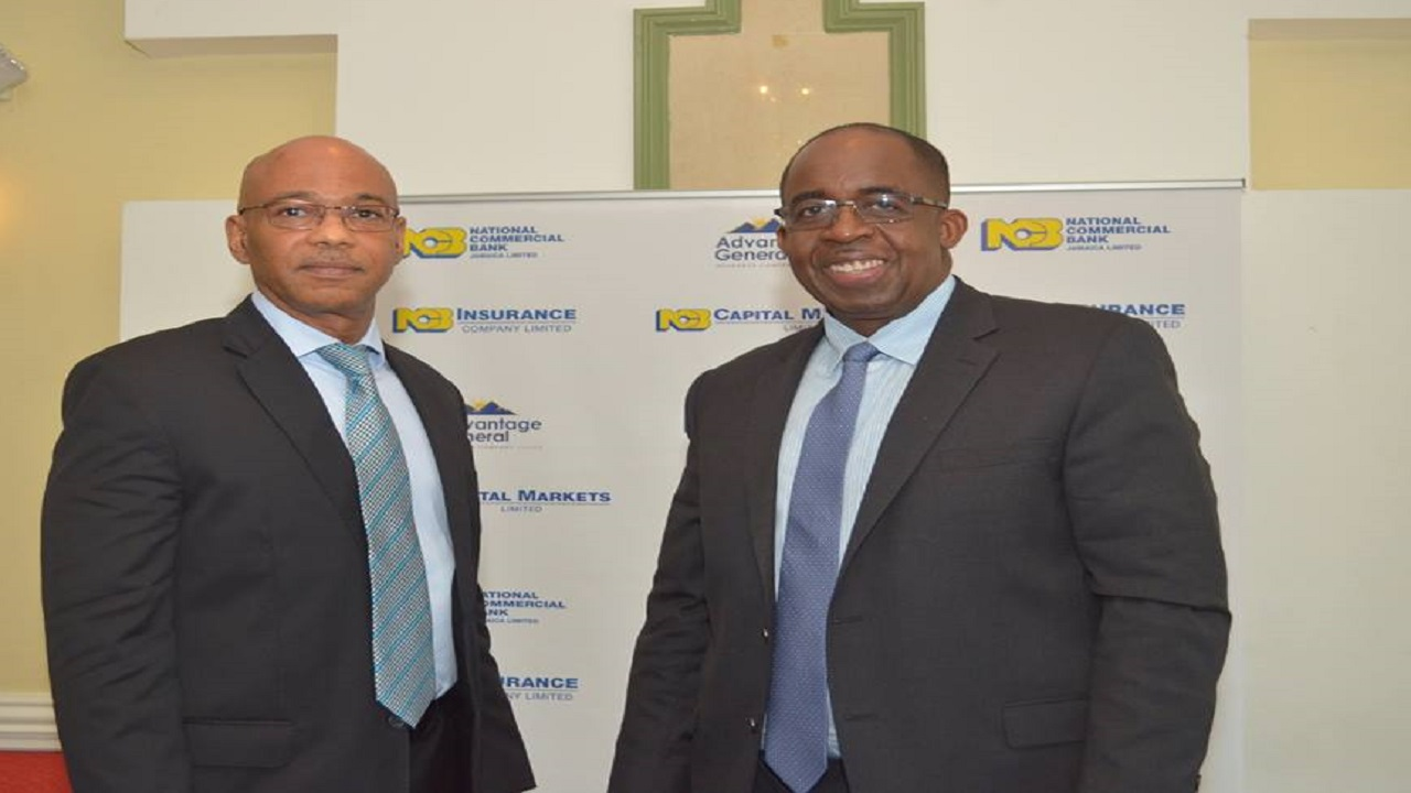 From left to right: NCB Financial Group deputy CEO Dennis Cohen and CEO Patrick Hylton.
