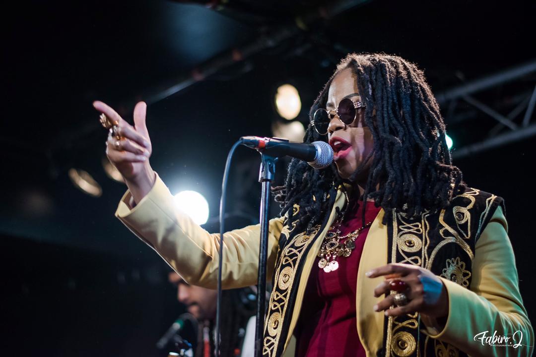 La chanteuse haïtienne, Princess Eud sur scène à New Morning, Paris