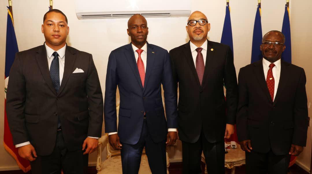 Les leaders politiques pro-Duvalier et le président de la Republique Jovenel Moise