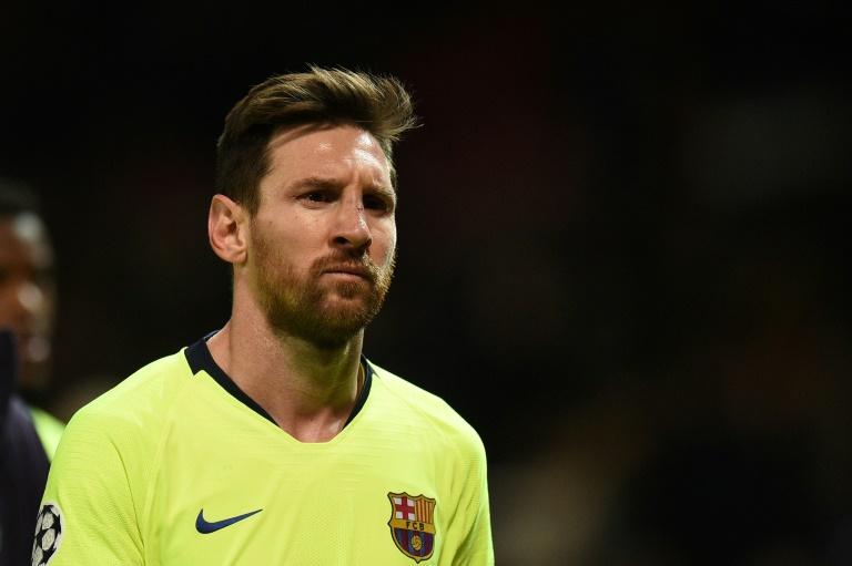 L'attaquant du FC Barcelone Lionel Messi lors du match de Ligue des champions face à Manchester United le 10 avril 2019