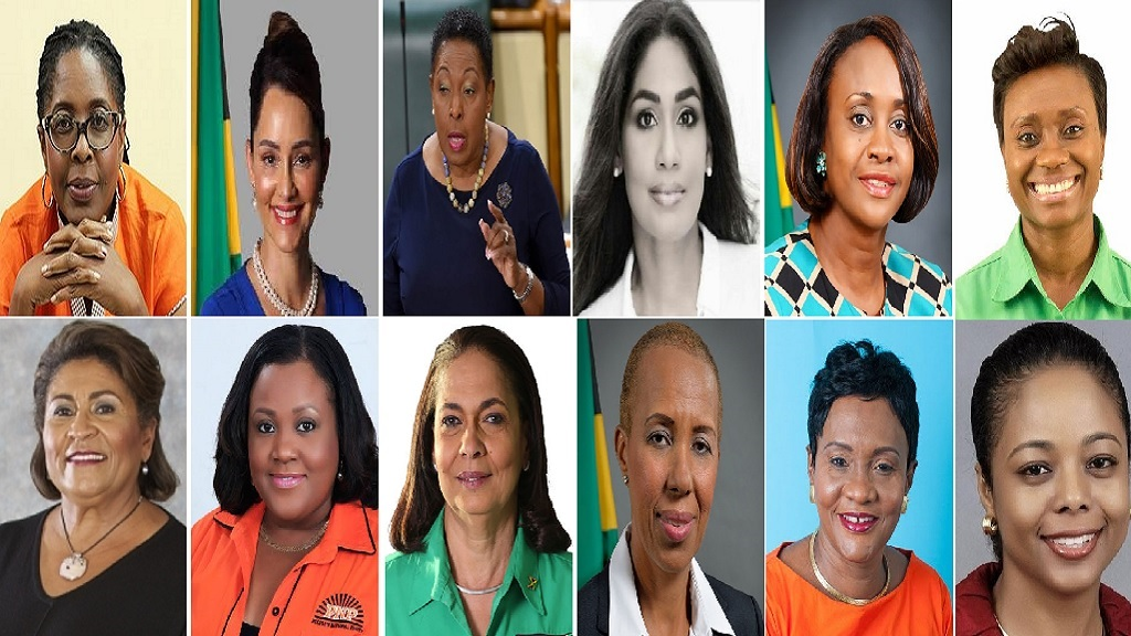 The sitting female members of the House of Parliament once Ann-Marie Vaz takes her seat.