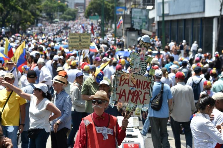 Manifestation de l'opposition vénézuélienne le 6 avril 2019 à Caracas