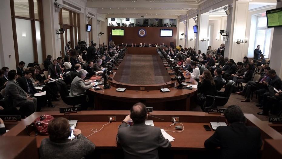 """Haiti a voté """"oui"""" en faveur de la nomination de Gustavo Tarre comme représentant de l'opposant vénézuélien, Juan Guaido , au sein de l'OEA."""