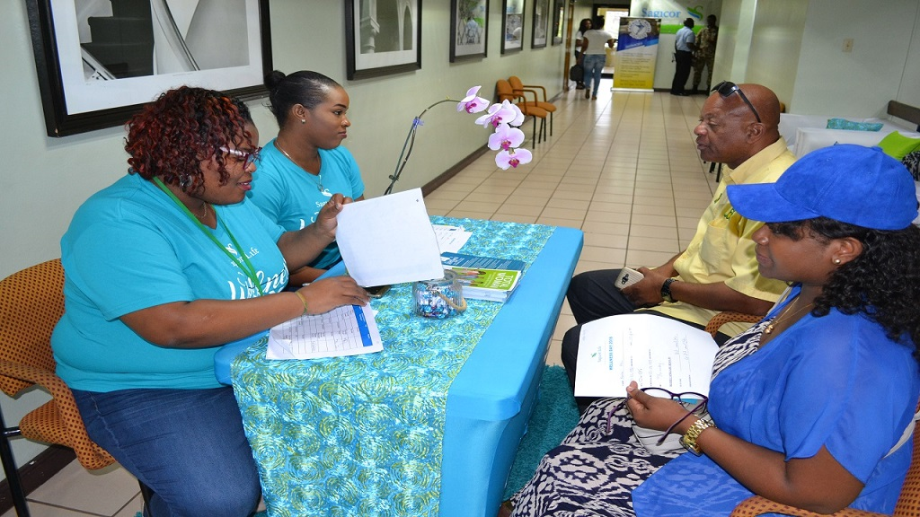 File photo from a previous pap smear screening hosted by Sagicor Life.