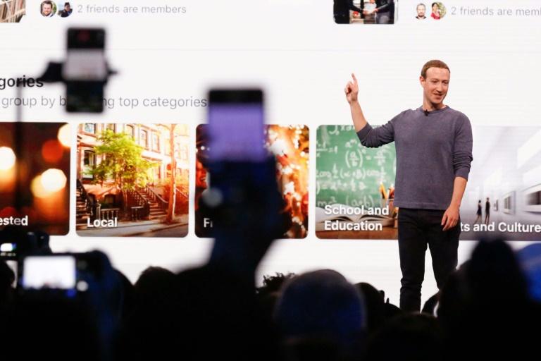 Mark Zuckerberg présente les évolutions apportées à Facebook, le 30 avril 2019 à San José (Californie)