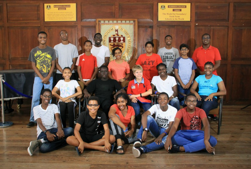 Queen's College 'A' Under-20 team, which included (from left) Tyson Holder, Kiarra Eversley and captain Shane Maughn.