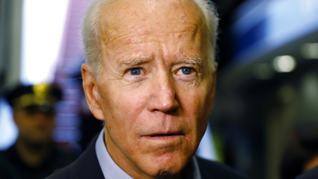 Former Vice President and Democratic presidential candidate Joe Biden arrives at the Wilmington train station Thursday April 25, 2019 in Wilmington, Delaware. Biden announced his candidacy for president via video on Thursday morning. (AP Photo/Matt Slocum)