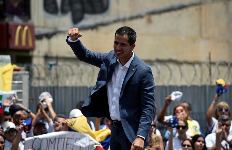 Juan Guaido à Caracas, le 27 avril 2019