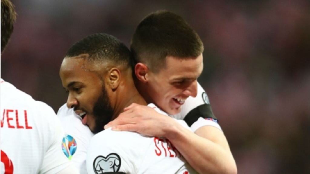 Raheem Sterling and Declan Rice.
