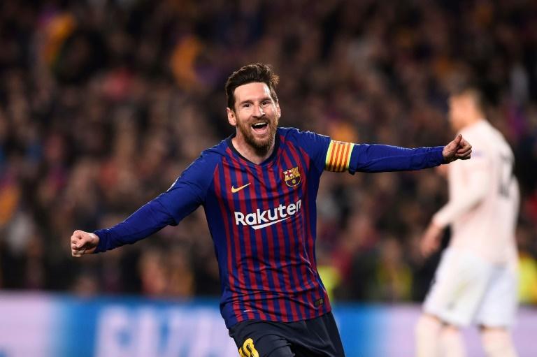Lionel Messi ramène le Barça en demi-finales de Ligue des champions lors de la victoire à domicile 3-0 face à Manchester United le 16 avril 2019