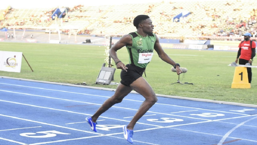 Calabar star athlete Christopher Taylor appeared to be unfit during the just concluded ISSA/GraceKennedy Boys and Girls Athletic Championships.