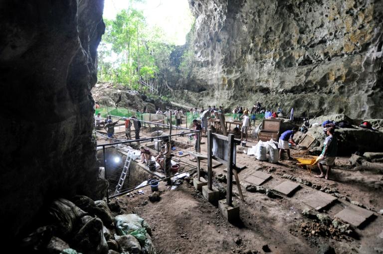 La grotte de Callao dans le nord de l'île de Luçon, le 9 aout 2011