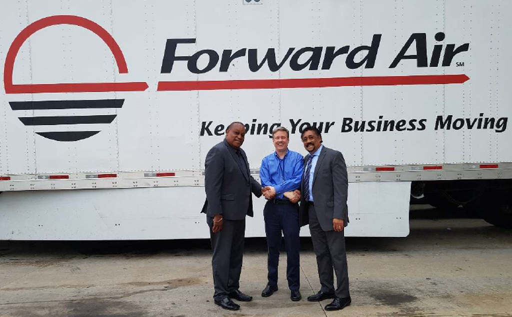 (L-R) Brian Broomes, Head of Sales Cargo, Caribbean Airlines and Michael McLeod,